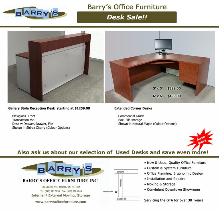 Office Desk Sale  You may also be interested in our promotions on Chairs   Filing Cabinets and Boardrooms Extended Corner Desk Sale Toronto   Reception Desk Sale toronto. Office Furniture On Sale Toronto. Home Design Ideas