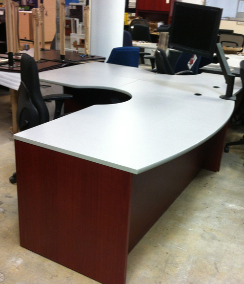 Used Wave Desk with Extension, Office Used Desk, North York, Toronto