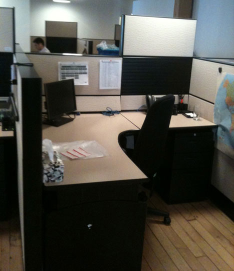 Teknion Workstation Used System Furniture Office