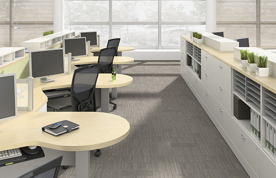 Cluster WZ-104, Office Desk and Workstations, North York, Toronto