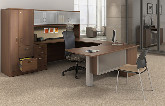 L Shape Desk Office Layout Small Spaces