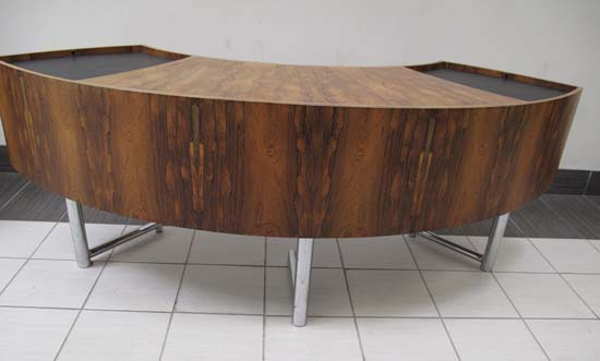 Vintage Curved Desk, Office Rental Desk, North York, Toronto