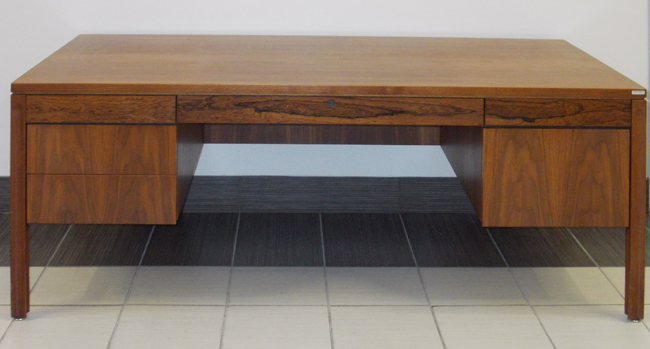Rosewood & Walnut Desk, Office Rental Desk, North York, Toronto