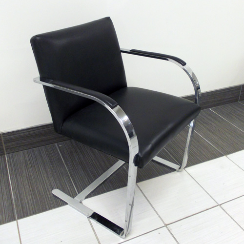 Stock Steel BRNO - Black Leather, Office Rental Chair, North York, Toronto