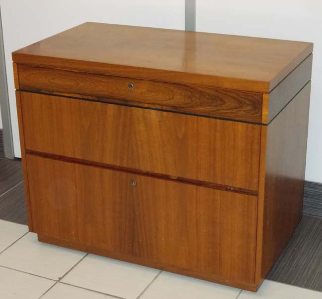 Rosewood & Walnut Lateral File, Office Rental Lateral File, North York, Toronto