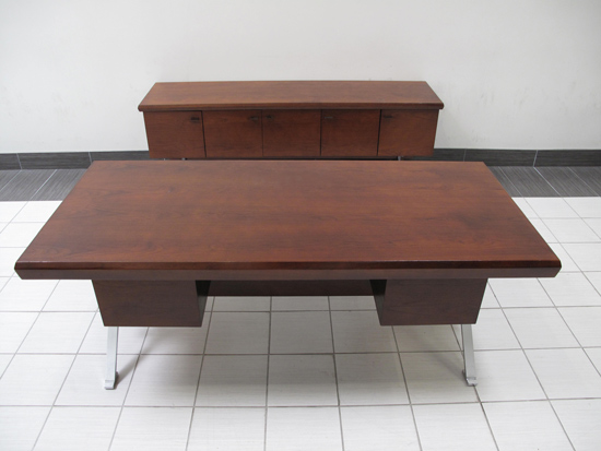 Vintage Executive Desk and Credenza, Office Rental Desk, North York, Toronto