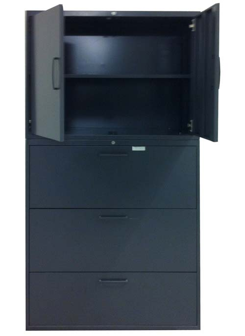 Teknion 3 Lateral Files with Storage, Office Filing Cabinets, North York, Toronto