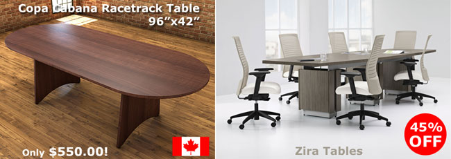 Copacabana boardroom table and Global Zira Boardroom tables