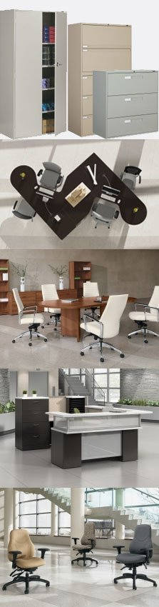 Barry's Office Furniture, located in downtown Toronto, proudly serving the Greater Toronto Area since 1981. Filing Cabinets, desks, tables, reception desks, seating